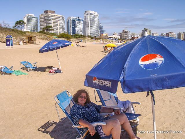 Praia em Punta del Este, Uruguai