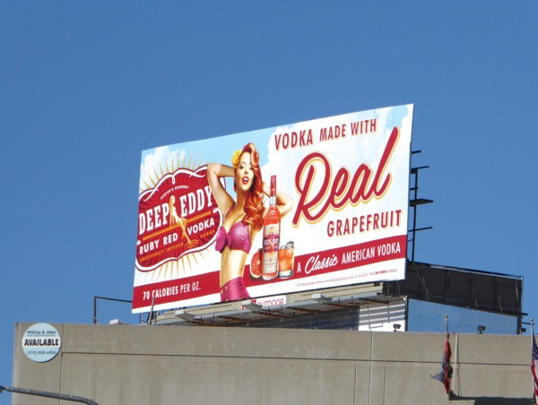 Deep Eddy Ruby Red Vodka billboard
