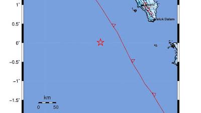 Tercatat ada sembilan Gempa Susulan usai Nias Barat Diguncang gempa magnitudo 6,7