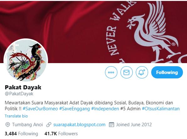 Akun @PakatDayak