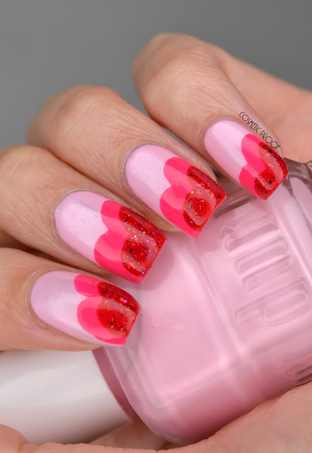 Valentine's Day Heart Nail Art