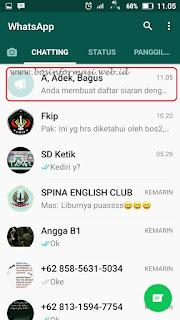 Cara Broadcast Pesan di Whatsapp Terbaru