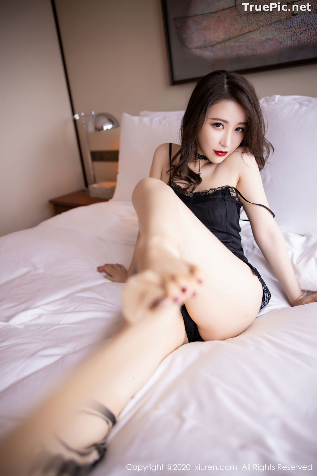 Image XIUREN No.2620 - Chinese Model - 绯月樱-Cherry - Sexy and Mysterious Black - TruePic.net - Picture-7