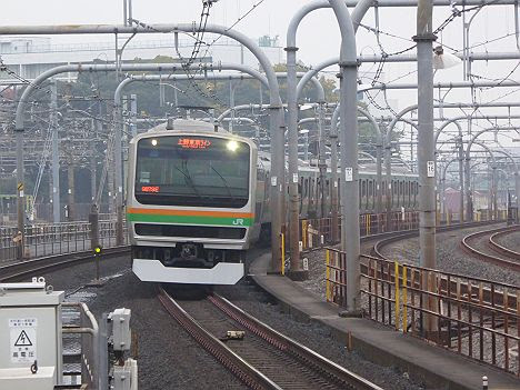 上野東京ライン 上野経由 東京行き1 E231系1000番台(2016.11品川駅工事に伴う運行)