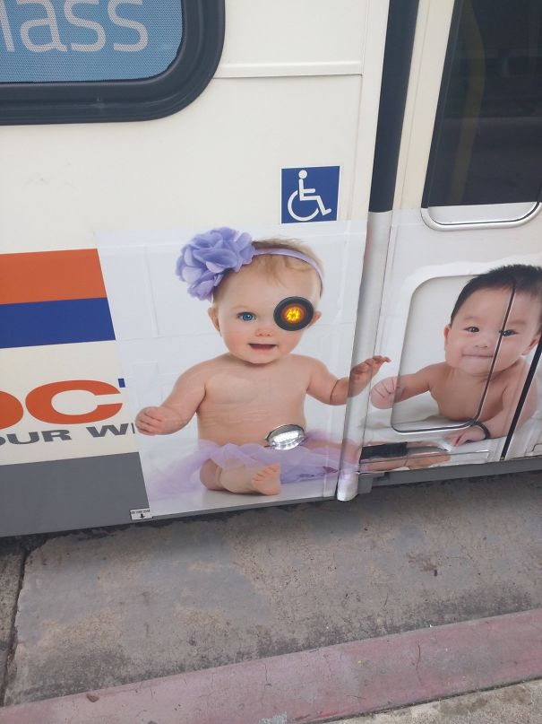 Poorly designed bus stencil