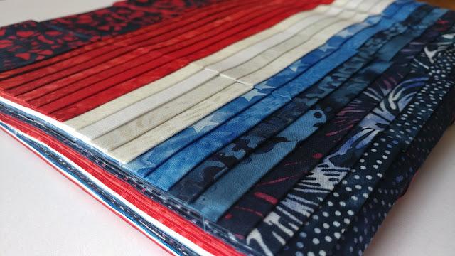 Red, white, and blue Freedom batiks by Island Batik