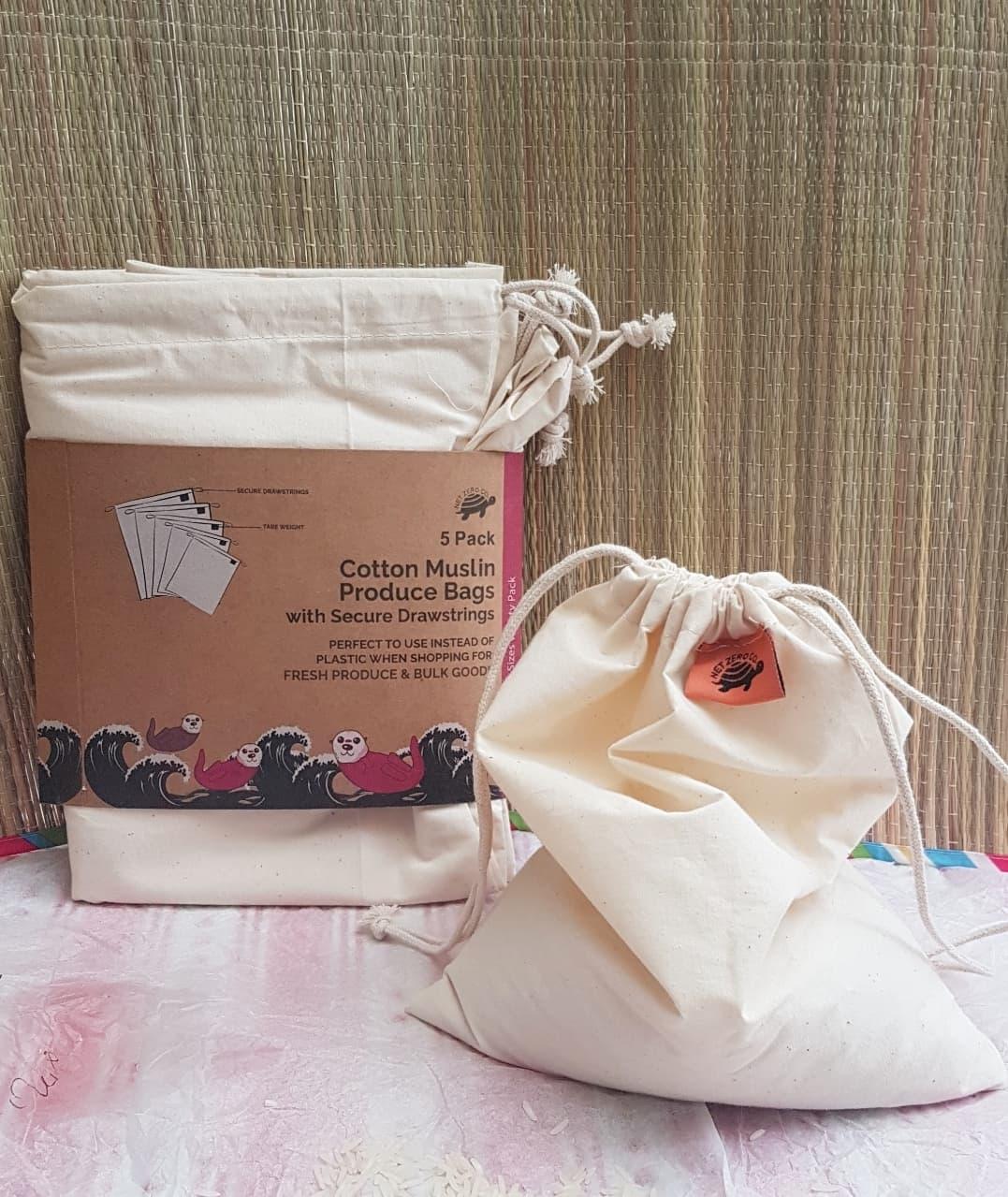 Net Zero Co Review - Zero Waste Reusable Cotton Produce Bags