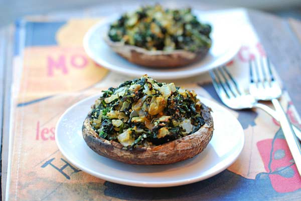 The Best Spinach Stuffed Portobello Mushrooms