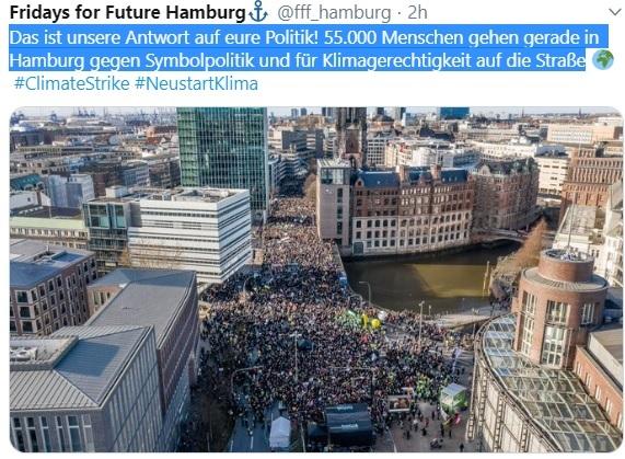 Puluhan Ribu Orang Turun Berdemonstrasi Di Hambur Memperjuangkan Perubahan Iklim