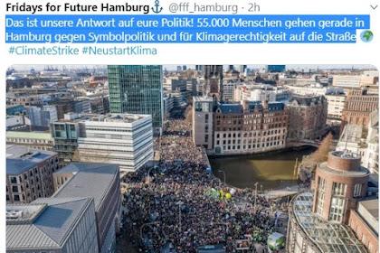 Puluhan Ribu Orang Turun Berdemonstrasi Di Hamburg Memperjuangkan Perubahan Iklim