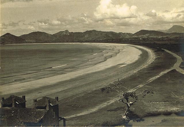 Praia de Camburi, circa 1940. Acervo Arquivo Público do Espírito Santo.