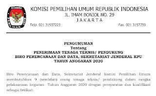 lowongan kerja di komisi pemilihan umum cecep husni mubarok