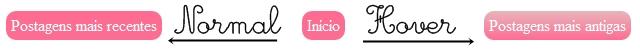 Personalizar links de navegação do blog