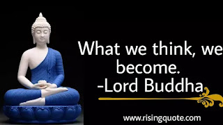photo of Lord Buddha and motivational quote by Lord Buddha