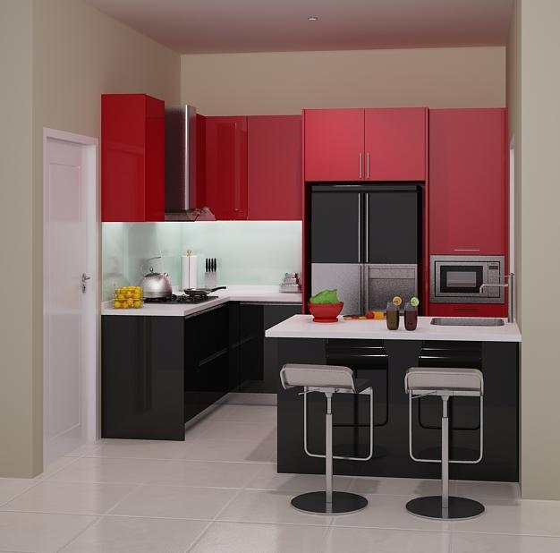 Harga 70 model gambar kitchen set minimalis for Harga kitchen set per meter lari