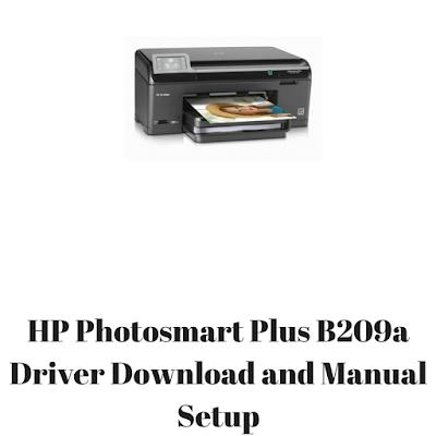 HP Photosmart Plus B209a Driver Download and Manual Setup