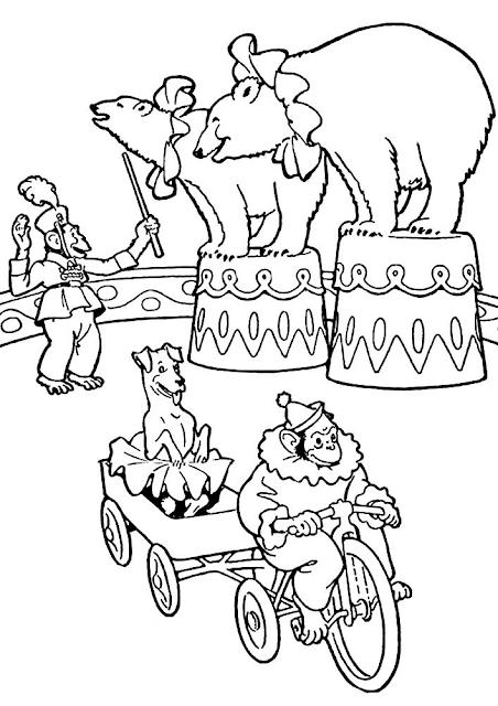 Gambar Mewarnai Circus Untuk Anak - 3