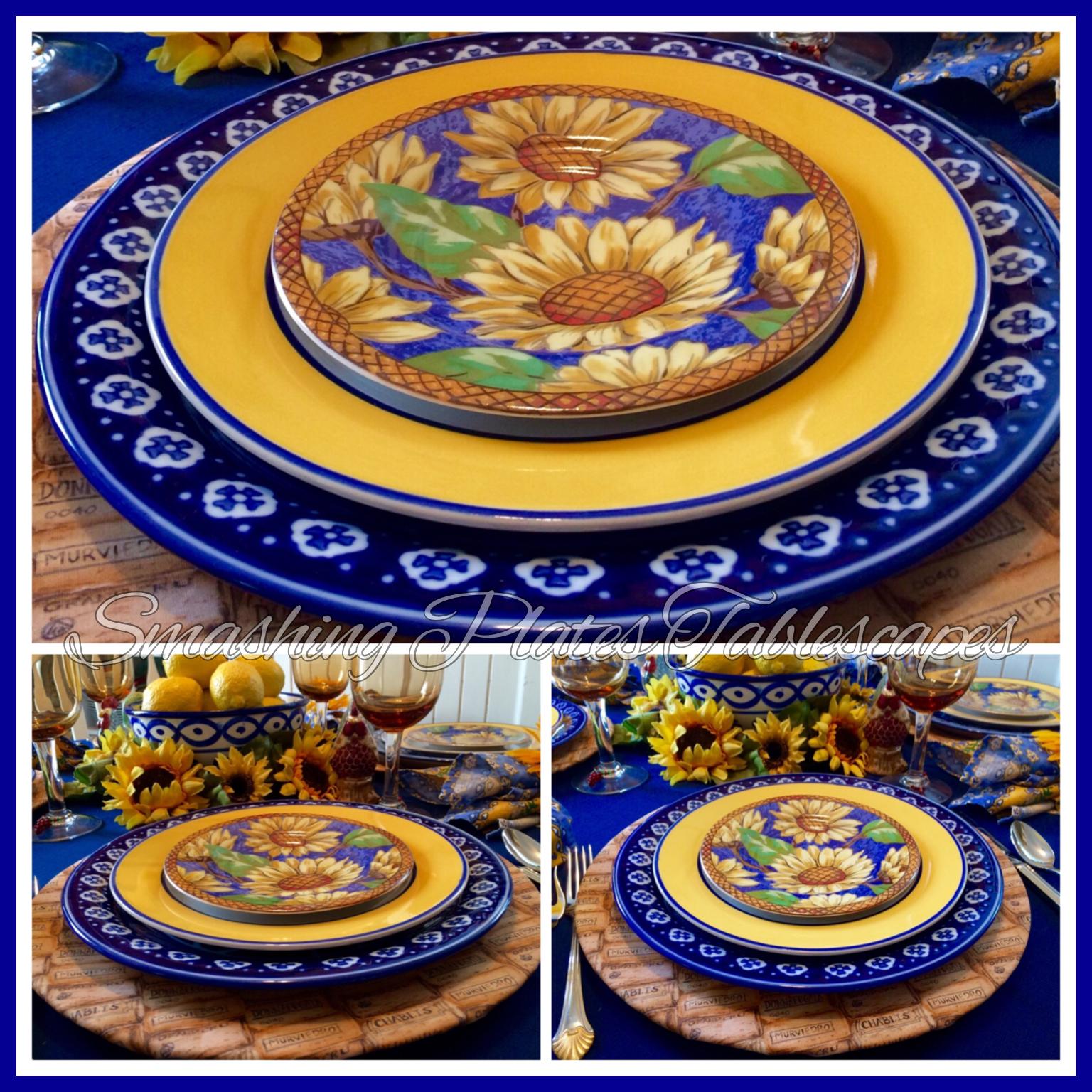 Sunflower place setting.  sc 1 st  Smashing Plates Tablescapes - Blogger & Smashing Plates Tablescapes: September Sunflowers