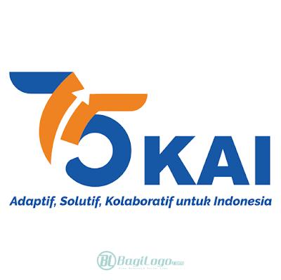 HUT Kereta Api Indonesia ke-75 (2020) Logo Vector