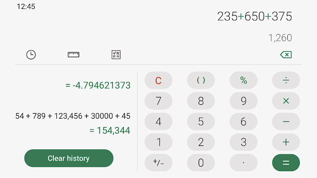 samsung calculator