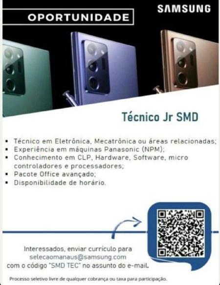 TÉCNICO JR SMD - SAMSUNG