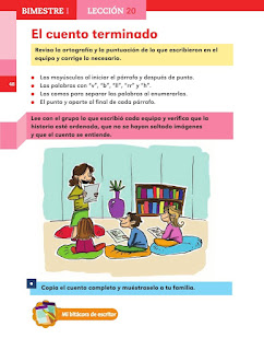 Apoyo Primaria Español 2do grado Bloque 1 lección 20 El cuento terminado