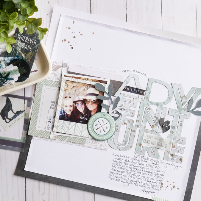 Large Mixed Media Digital Cut File by Jamie Pate for Heidi Swapp | @jamiepate for @heidiswapp