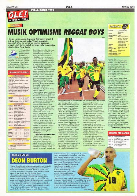 JAMAICA REGGAE BOYS WORLD CUP 1998