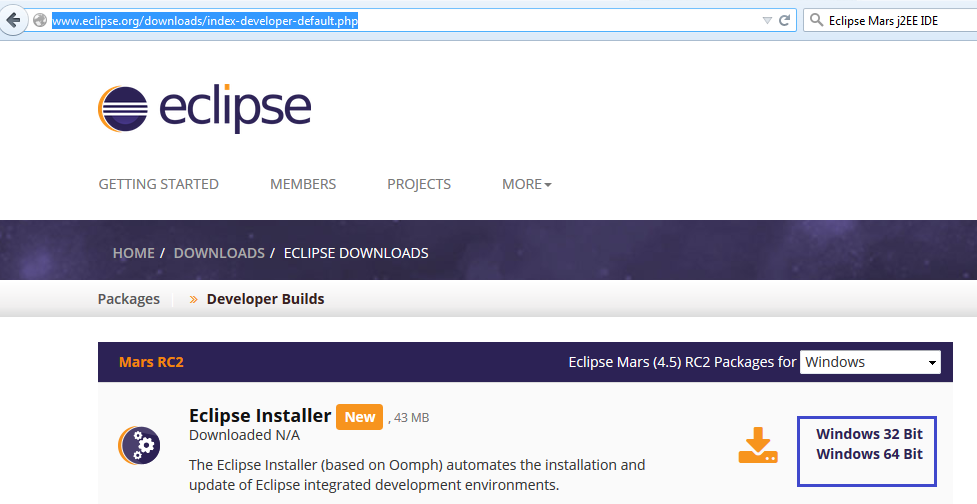 WWW ECLIPSE ORG DOWNLOAD 32 BIT - Java 1 7 0 Free downloads