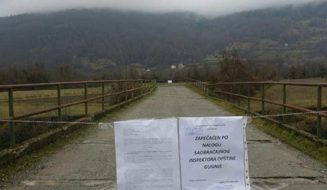 Martinoviće: Zabranjen prolaz preko mosta na rijeci Ljuči