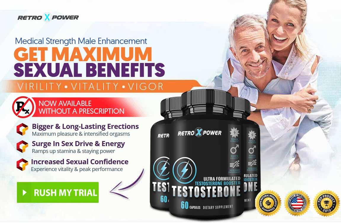 Retro X Power Testosterone Best Male Enhancement (Penis Enlargement) Pills: 2020