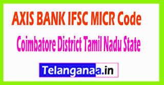 AXIS BANK IFSC MICR Code Cuddalore District Tamil Nadu State