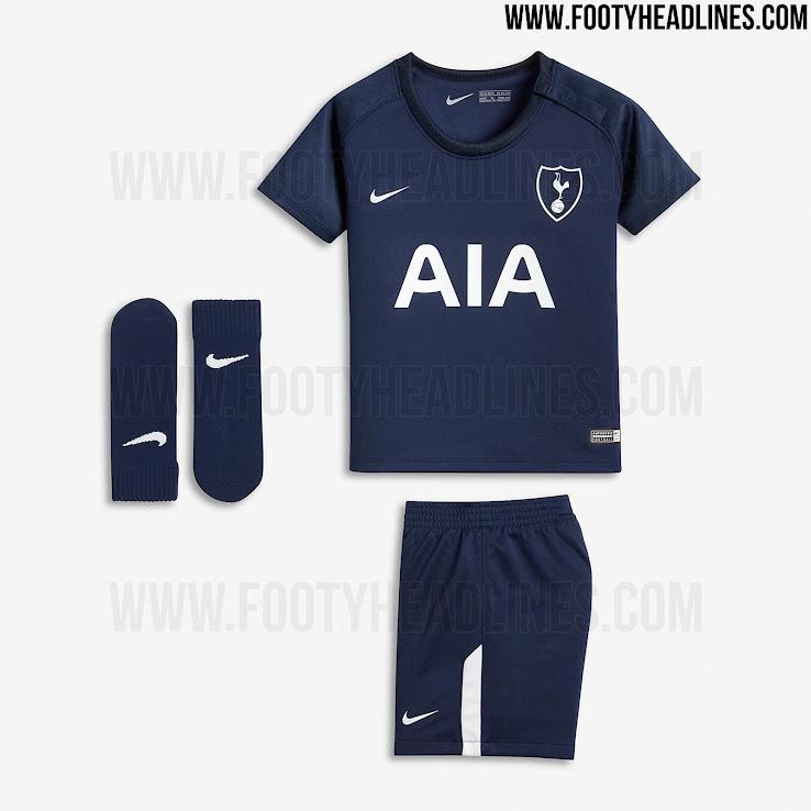 quality design c84fd c5b71 Full Nike Tottenham 17-18 Home and Away Kits Leaked - Footy ...