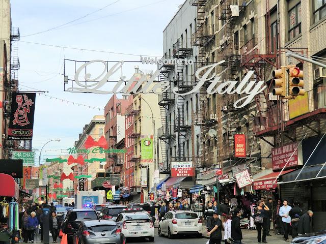 Street of Little Italy manhattan new-york