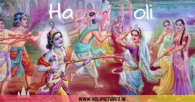 Radha Krishna Happy Holi HD Images 2021 Download | Holi Pics