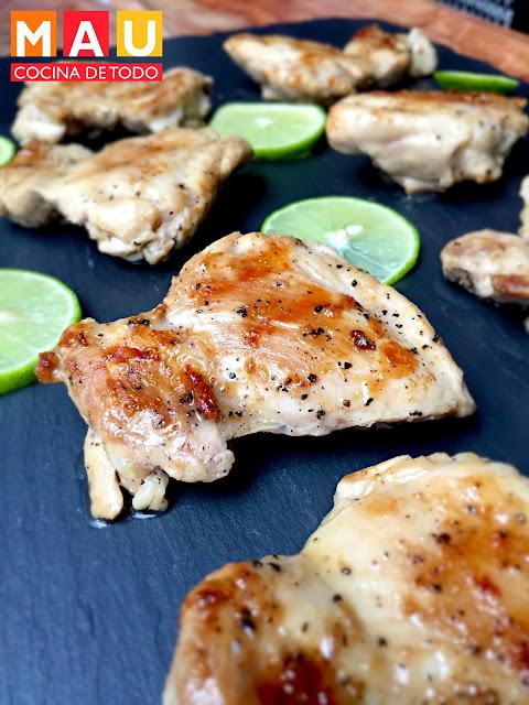 pollo al lemon pepper limon pimienta facil muslos sin hueso receta
