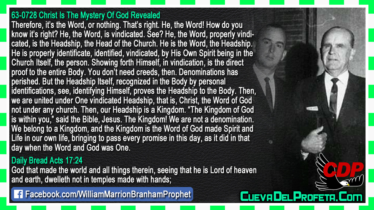 Who is the Head of the Church? - William Marrion Branham