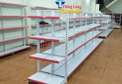Thăng Long cung cấp mẫu kệ siêu thị đẹp