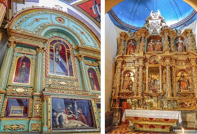 Altares barrocos da Catedral de Quito