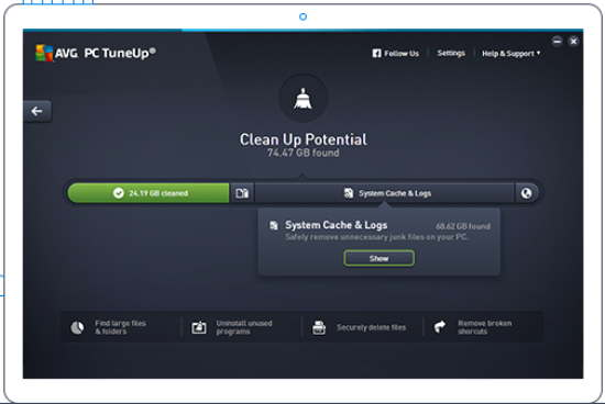 avg pc clean and speedup software