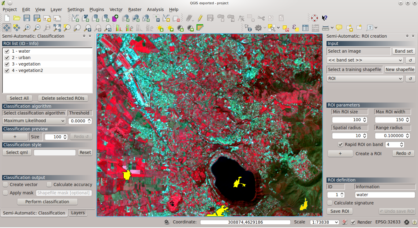 From GIS to Remote Sensing: Supervised Classification using