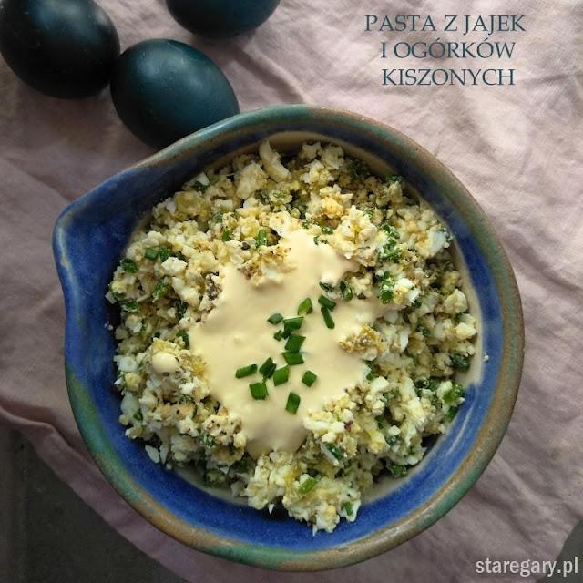 Pasta z jajek i ogórków kiszonych