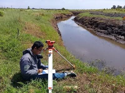 survey pengukuran irigasi, cross saluran