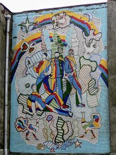Белгород-Днестровский. Одесская обл. Мозаичное панно. Гостиница. Ул. Шевченко, 1