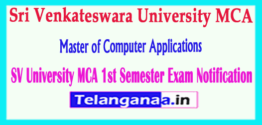 SVU Sri Venkateswara University MCA Exam Time Table Notification