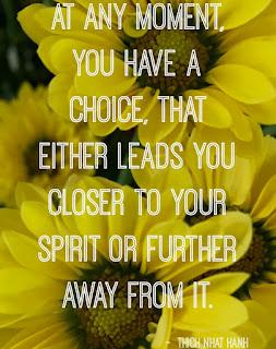 Quote on spirit, yellow flowers meme