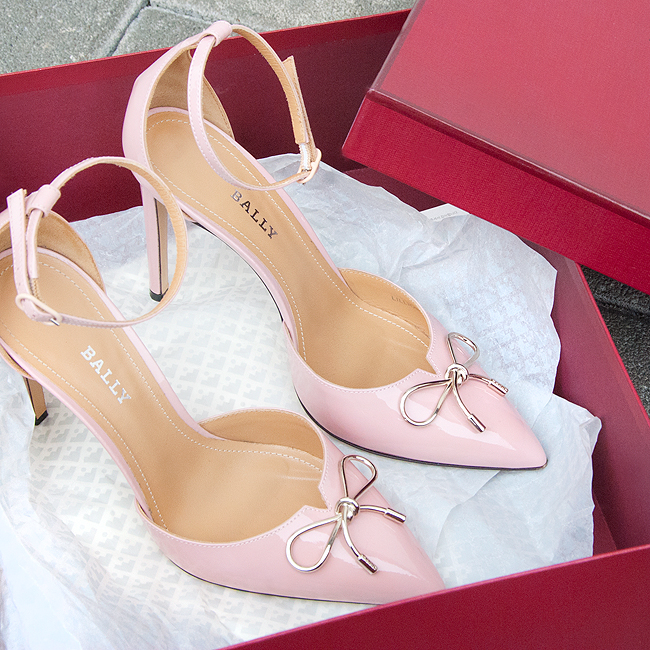 Bally shoes, pink, bow