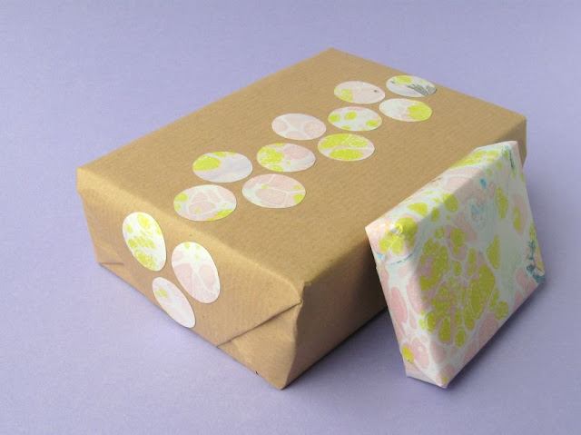 Gift wrapping with patterned craft paper