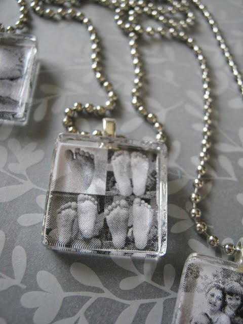"I found an amazing DIY idea on ""Saving With Sarah"" blog: DIY photo pendant. A wonderful Mother's Day gift or also birthday gift that is very easy to make and also will cost you less than $."