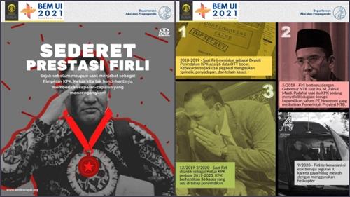 Setelah Jokowi, BEM UI Lanjut Kritik Ketua KPK Firli Bahuri, Nama TGB Disebut